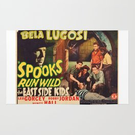 Spooks Run Wild, Bela Lugosi, vintage movie poster Rug