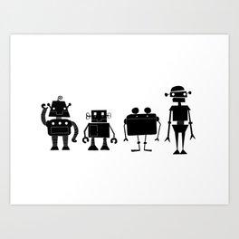 Four Robots Art Print