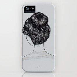 Bun Girl iPhone Case