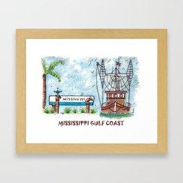 Mississippi Gulf Coast Framed Art Print