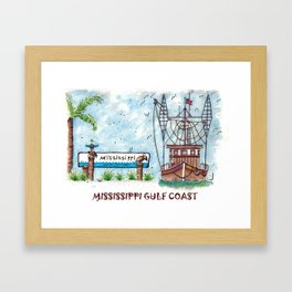 Mississippi Gulf Coast Framed Art Print