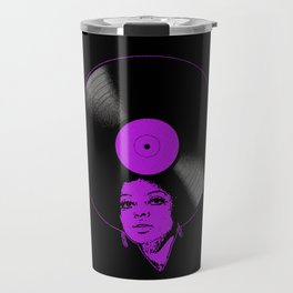 Afrovinyl (Purple) Travel Mug