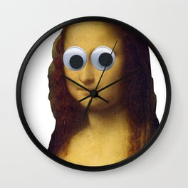 Mona Lisa is Watching You Wall Clock