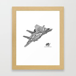 Top Line Framed Art Print