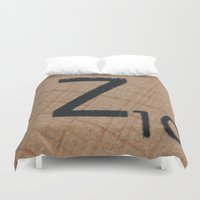 dragonball z Duvet Covers featuring Tile Z by Beastie Toyz