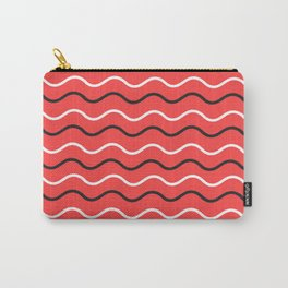 Red wavy pattern Carry-All Pouch