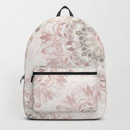 Floral Ombre Beige Mandala Backpack