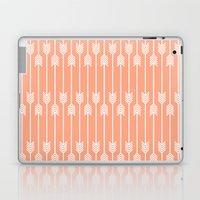 Peach and White Arrows /// www.pencilmeinstationery.com Laptop & iPad Skin