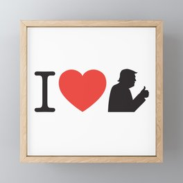 I Love Trump Logo Framed Mini Art Print