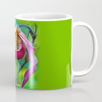 orchid Mugs featuring Orchid by Trevor Jolley