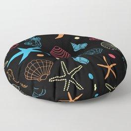 Seahorse Sea Shell Party Floor Pillow