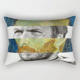 Van Gogh's Self Portrait & Clint Eastwood Rectangular Pillow