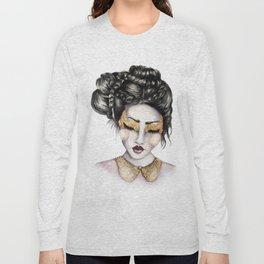 Golden Eyes // Fashion Illustration Long Sleeve T-shirt