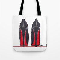 heels Tote Bags featuring Mighty Heels by anna hammer