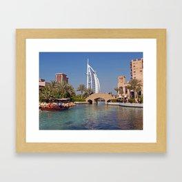 Burj Al Arab Hotel Framed Art Print