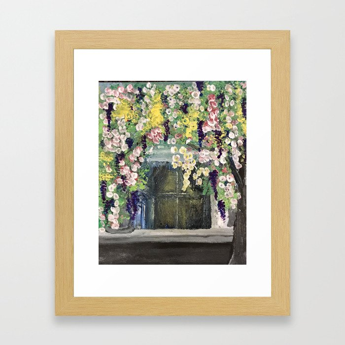 House Flowers Framed Art Print