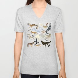 Wolves of the world 1 Unisex V-Neck