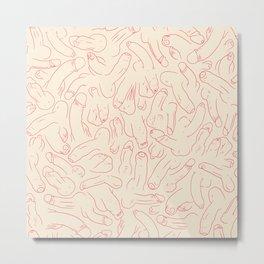Penis Pattern Metal Print