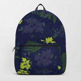 Woodland Ferns in Blue Backpack