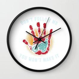 Motocross - Dirt Bike - Don t Follow Me Wall Clock
