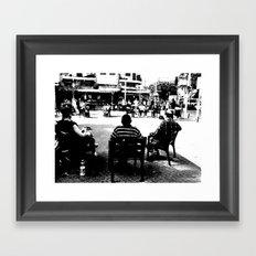 Corners and circles Framed Art Print