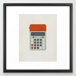 "Vintage Calculator Series: ""Electronic 101"" Framed Art Print"