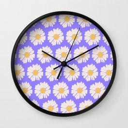 Margaritas lavanda Wall Clock