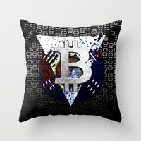 korea Throw Pillows featuring bitcoin south korea by seb mcnulty