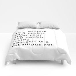Liking Yourself Comforters