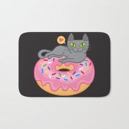 My cat loves donuts 2 Bath Mat