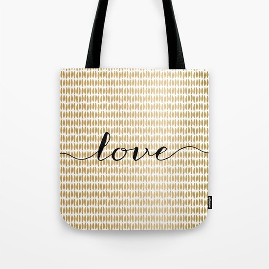 Love Gold Tote Bag