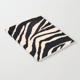 Zebra Animal Print Black and off White Pattern Notebook