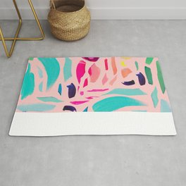 Brush Gems 1 - A deconstructed painting Rug