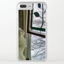 Romero Watching the Snow Clear iPhone Case