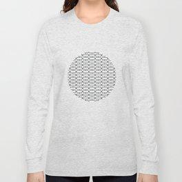 Rectangle Brick Pattern Long Sleeve T-shirt