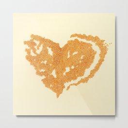 Growing heart Metal Print