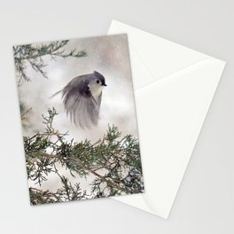 Fly-away Tufted Titmouse Stationery Cards