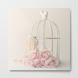 Rose Cage Metal Print
