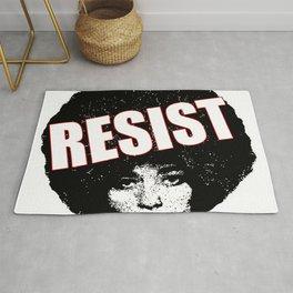 Angela Davis - Resist (black version) Rug