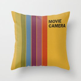 Retro Movie Camera Color Palette Throw Pillow