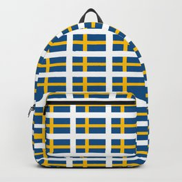 flag of sweden -  Swedish,Sverige,Swede,Stockholm,Scandinavia,viking,bergman, strindberg Backpack