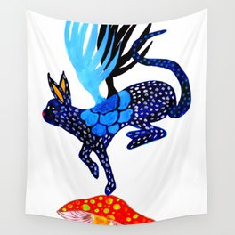 Blue Lucky Wall Tapestry