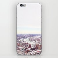 pittsburgh iPhone & iPod Skins featuring Ice Pittsburgh by clairemac