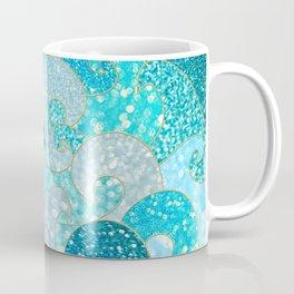 Mermaid Waves And Sea Faux Glitter - Sun Light Over The Ocean Coffee Mug