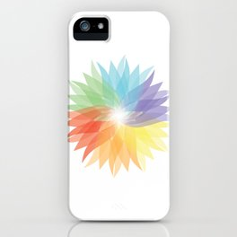 colorful lady iPhone Case