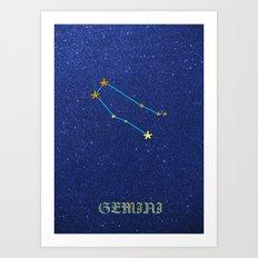 Constellations - GEMINI Art Print