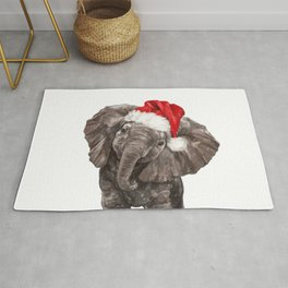 Christmas Baby Elephant Rug