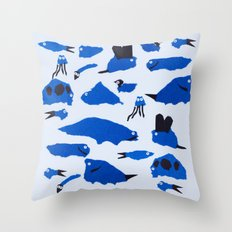 Whimsical Critters Throw Pillow