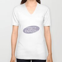 kardashian V-neck T-shirts featuring Keeping Up With One Direction by antisthetic