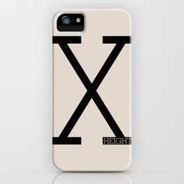 X-Height iPhone Case